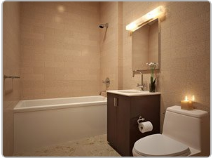 Bathroom in condo