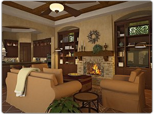 Living room in Florida home