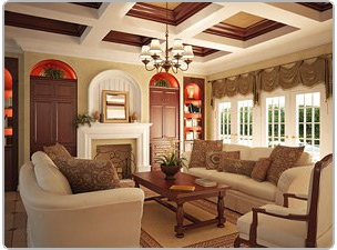 Living room in a beautiful home