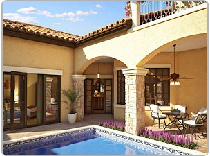 Pool in Florida home