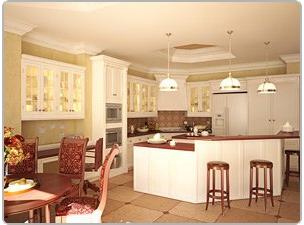 Кухня в красивом доме