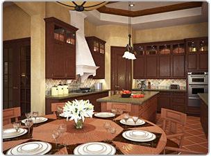 Кухня в непростом флоридском доме