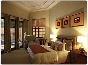 Спальня в непростом флоридском доме